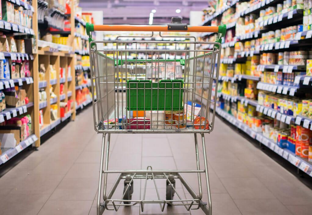 cart in a shopping center